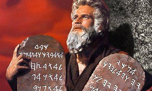 Mozes en de tien geboden