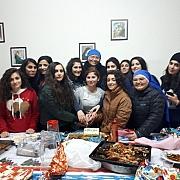 Kerstviering met de studentes