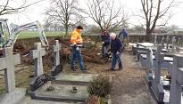 reconstructie begraafplaats biest-houtakker