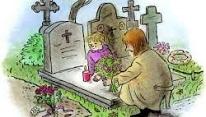 Bloemen voor het graf van een dierbare overledene