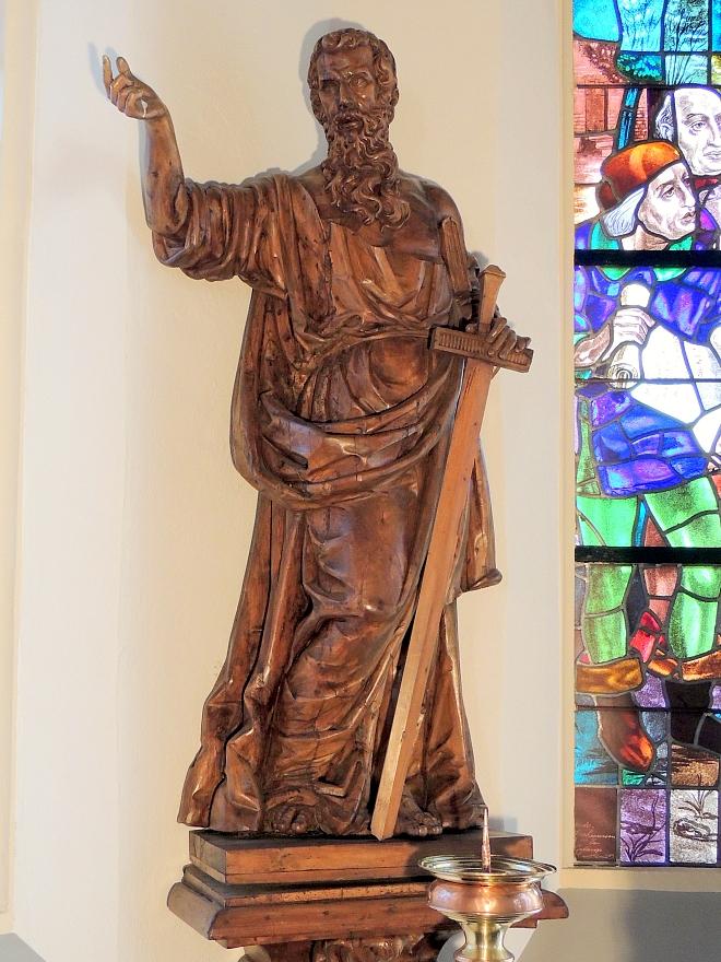 Beeld St. Paulus in de Willibrorduskerk te Diessen