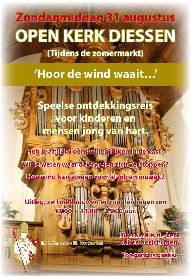 Affiche open kerk dag Diessen 2014